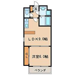 ベレーサ葵[8階]の間取り