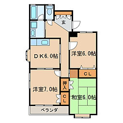 PIAA YOSHINO[4階]の間取り