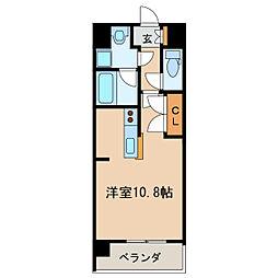 メイプルコート布池[6階]の間取り