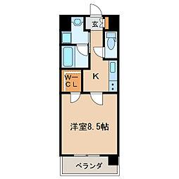 メイプルコート布池[5階]の間取り