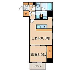 カスタリア栄[6階]の間取り