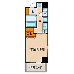 アーク栄本町通マンション[10階]の間取り