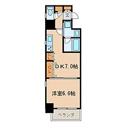 レジディア高岳[7階]の間取り