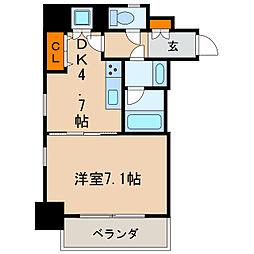 レジディア高岳[5階]の間取り