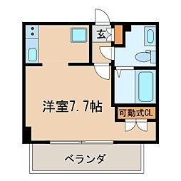 ライブコート丸の内[13階]の間取り