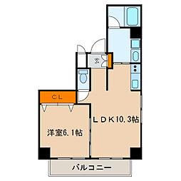 レジデンシア栄南[5階]の間取り