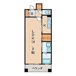 プライムメゾン東桜[5階]の間取り