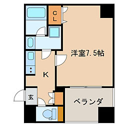 APEX名古屋栄Premier Life[2階]の間取り