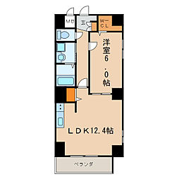 P-SQUARE Shumoku[6階]の間取り