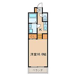 プライムアーバン千種[10階]の間取り