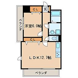 新栄Grand M[12階]の間取り