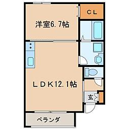 ルシクラージュ[2階]の間取り