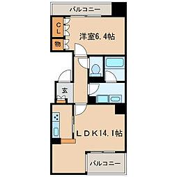 CASA BIANCA[4階]の間取り