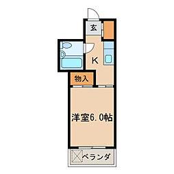 七福第五ビル[6階]の間取り