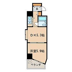 ダイアパレス栄公園[7階]の間取り