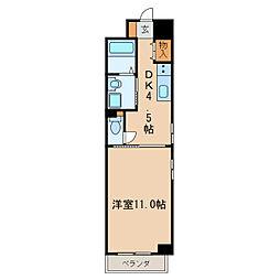 フローラル栄II[6階]の間取り