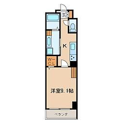 カスタリア新栄II[4階]の間取り