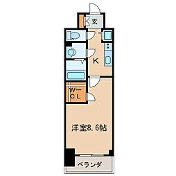プレサンス栄ライズ[5階]の間取り