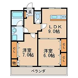 プログレスアサダ[7階]の間取り