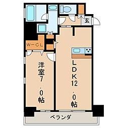 FIRST RESIDENCE SAKAE[7階]の間取り