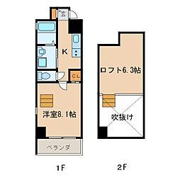 G style 栄東[3階]の間取り