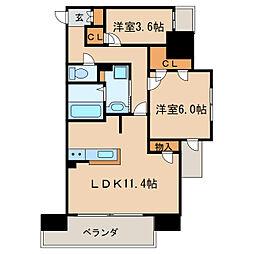 Kamiya Bldg 東桜[5階]の間取り