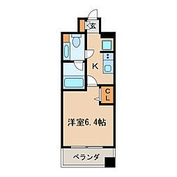 レジディア久屋大通[2階]の間取り