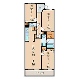 レジディア泉[4階]の間取り