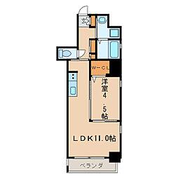 KCLASSYIZUMI[9階]の間取り