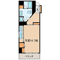 丸の内セントラルハイツ[9階]の間取り