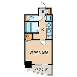 プレサンス泉アーバンゲート[4階]の間取り