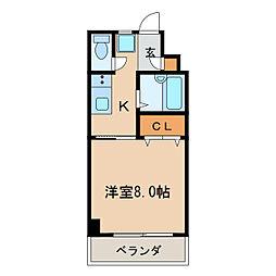 ドミールイースト[3階]の間取り