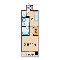愛知県名古屋市東区泉3丁目の賃貸マンションの間取り