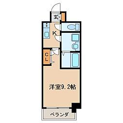 プレサンス栄フェル 12階1Kの間取り