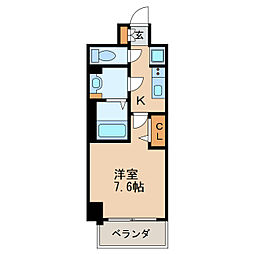 プレサンス新栄リベラ 14階1Kの間取り