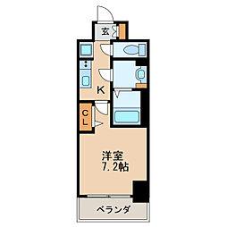 プレサンス新栄リベラ 13階1Kの間取り