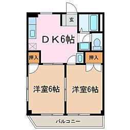 愛知県日進市赤池3丁目の賃貸アパートの間取り