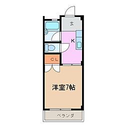 グリーンビレッジA・B[2階]の間取り