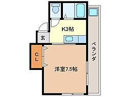 スカイハウス[3階]の間取り