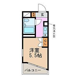 グランデール名古屋[5階]の間取り