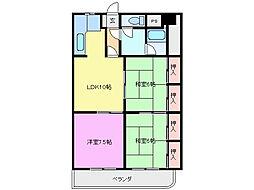 三重県鈴鹿市算所2丁目の賃貸マンションの間取り