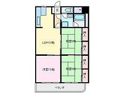 グランメール勝田[2階]の間取り