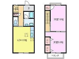 [テラスハウス] 三重県鈴鹿市桜島町1丁目 の賃貸【/】の間取り
