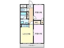 KDSマンション[2階]の間取り