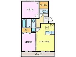 メルべーユMII[102号室]の間取り