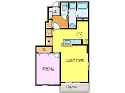 三重県鈴鹿市算所4の賃貸アパートの間取り