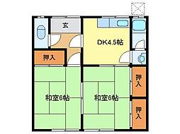 三重県鈴鹿市算所4丁目の賃貸アパートの間取り