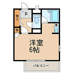 シャルマンフジ和歌山拾五番館[3階]の間取り