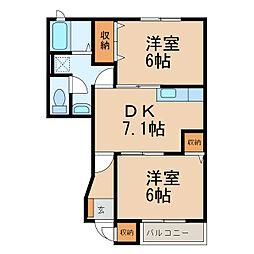 パレ・エクセランI・II[1階]の間取り
