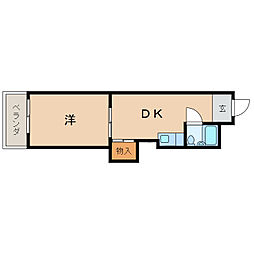 ヤマイチPLAZA吉田I[6階]の間取り